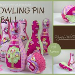 Bowling Pin & Ball - Digital sewing Pattern; Games