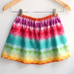 Gorgeous Rainbow Scales Girls Skirt