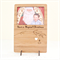 Christmas frame photo card laser cut bamboo wood