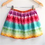 Gorgeous Rainbow Scales Girls Skirt
