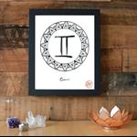 Zodiac Sign Gemini Symbol Download Printable Wall Art