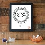 Zodiac Sign Aquarius Symbol Download Printable Wall Art