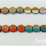 Earrings - Two Toned Round