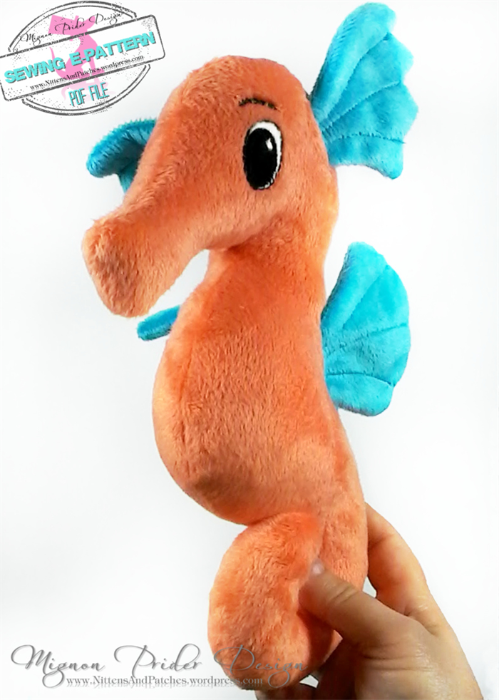Stuffed Animals, e- Pattern, Plush Seahorse and Starfish, Baby Toys ...