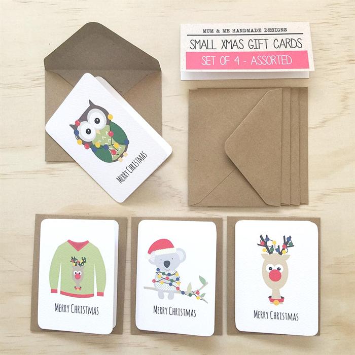 Christmas Mini Gift Card Pack Envelopes Gc08
