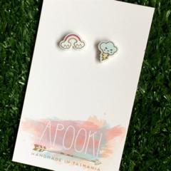 Rainbow & Storm Cloud Earrings - Buy 3 get 4th Pair FREE
