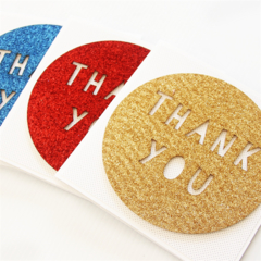 4 Handmade Thank You Cards, Glitter Cards, Gratitude Appreciation Teacher Card