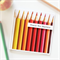 Teacher Personalised card appreciation red orange and yellow pencils