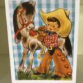 Cute cowboy card