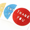 3 Thank You cards glitter blue red and gold teacher appreciation