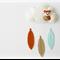Fox - Pure wool felt Cloud mobile / wall hanging, decoration, nursery, feathers