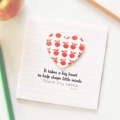 Teacher Thank You Card, Personalised, 8 Quotes, Custom Made, Apples