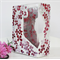 Mosaic Vase  detailed with pink shaded flowers..