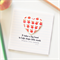 Teacher Personalised card It takes a big heart to help shape apples