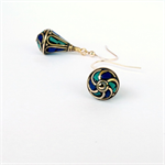 Nepal Lapis and Turquoise Earrings