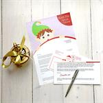 Personalised letter from Santa - 'Elfing around'