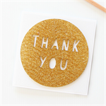 Thank You card glitter gold teacher appreciation