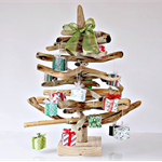 Driftwood themed decorated Christmas tree complete with its own presents....