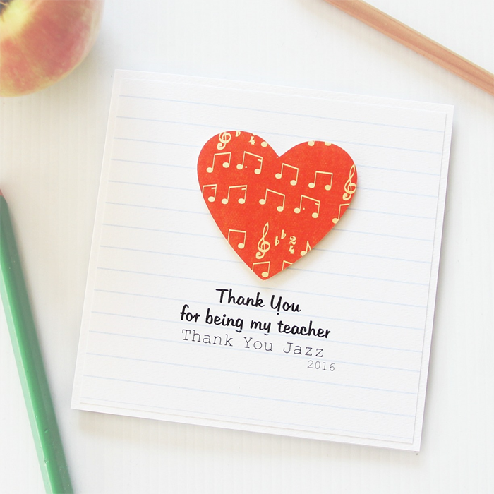 Teacher music personalised thank you card drama the little card teacher music personalised thank you card drama m4hsunfo