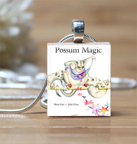 Possum magic book cover scrabble tile pendant charm necklace la possum magic book cover scrabble tile pendant charm necklace mozeypictures Gallery