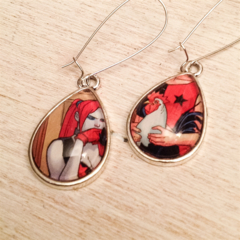 Harley Quinn comic  Earrings