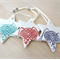 Owl Christmas decorations. Ceramic star ornaments. Teachers gift.