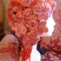 Crochet Ear Flap Cloche Lady's/Girl's Winter/Autumn, Flowers/Leaves