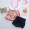 Stunning pink floral peter pan collar halter neck top, baby, girl, toddler