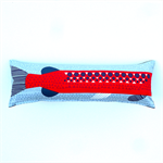 Fish Tail Pillow Cover. The Fish That Got Away Pillow Cover for Little Fishermen