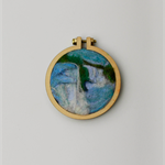 Needle Felted Mini Embroidery Hoop - Niagara Falls
