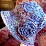 Crochet brim/cloche ladies' fashion hat
