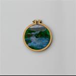 Needle Felted Mini Embroidery Hoop - Lake Wanaka