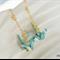 Origami Crane Earrings - Light Blue
