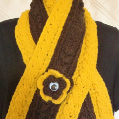 AFL Crochet Supporters Scarves - Support Hawthorn in style + Hats/Beanies