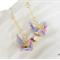 Origami Crane Earrings - Purple