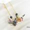 Origami Crane Earrings - Black