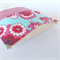 Lavender Heat Pack & Wrap: Aqua blue floral with pink cross hatched back