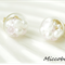 Crystal Glass Ball Earrings - Light Pink and Pearls