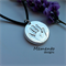 LARGE Silver Circle Handprint/Footprint Pendant Fingerprint Jewellery Keepsake