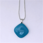 Aqua Mini Fused Glass Pendant