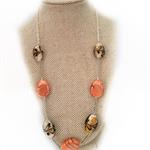 Orange lampwork necklace