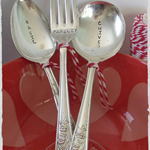 Vintage spoon/fork Plant markers... Set of 3... 'Herbs' READY NOW...