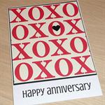 Happy Anniversary Card - XOXO