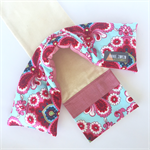 Lavender Heat Pack & Wrap: Aqua blue floral with pink cross hatched back