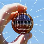 4cm Custom Needle Felted Mini Embroidery Hoop