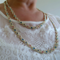 Delicate Crystal and Seed Bead Necklace