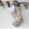 Large Personalised Christmas Stocking in Stone with Christmas Tree
