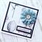 Birthday celebrate blue  burlap flower bloom botanical paper friend mum card