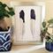 Black & White Australian Magpie Feathers - monochrome minimalist print