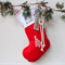 Large Personalised Christmas Stocking Red Christmas Tree